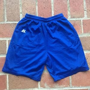 Russell Blue Athletic Shorts, Large